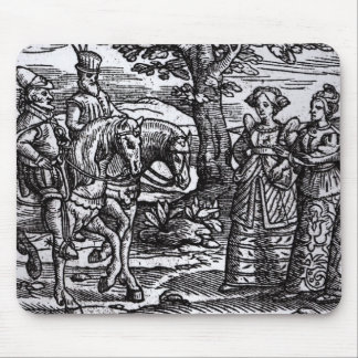 Macbeth, Banquo and the Three Witches Mouse Mat