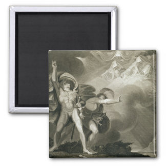 Macbeth, Banquo and the Three Witches on the Heath Square Magnet