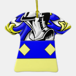 MacBeth Coat of Arms Double-Sided T-Shirt Ceramic Christmas Ornament