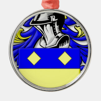 MacBeth Coat of Arms Silver-Colored Round Decoration
