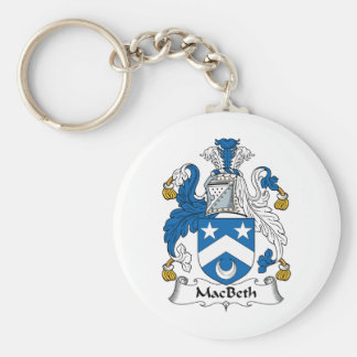MacBeth Family Crest Basic Round Button Key Ring