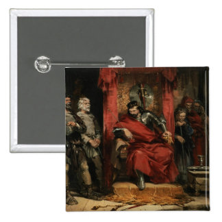 Macbeth instructing the Murderers 15 Cm Square Badge
