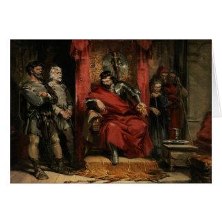 Macbeth instructing the Murderers Card