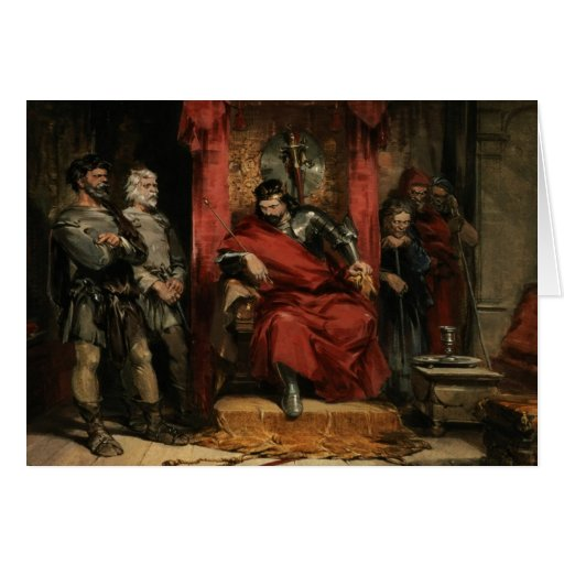 Macbeth instructing the Murderers Greeting Card