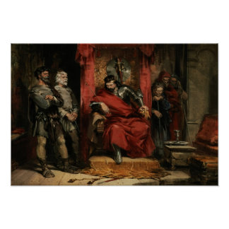 Macbeth instructing the Murderers Poster
