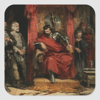 Macbeth instructing the Murderers Square Sticker