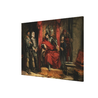 Macbeth instructing the Murderers Stretched Canvas Print