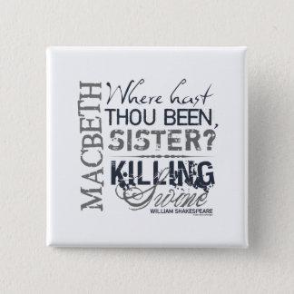 Macbeth Killing Swine Quote 15 Cm Square Badge