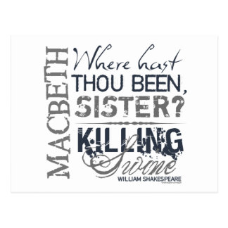 Macbeth Killing Swine Quote Post Cards