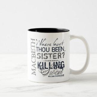 Macbeth Killing Swine Quote Two-Tone Mug