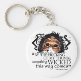 Macbeth Quote Basic Round Button Key Ring