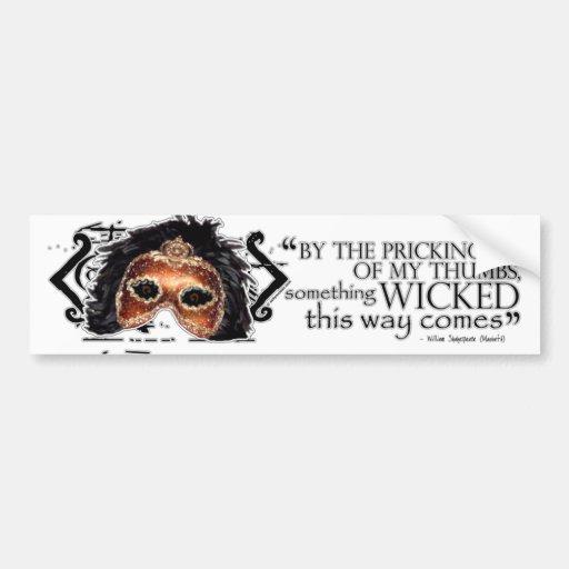 Macbeth Quote Bumper Stickers