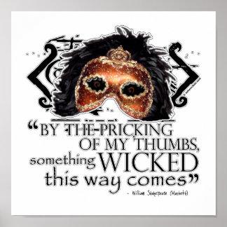 Macbeth Quote Poster