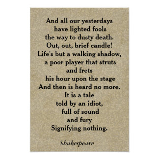Macbeth quote - poster