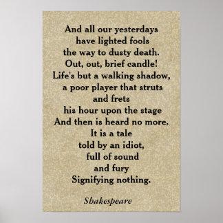 Macbeth quote - poster