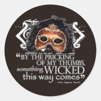 Macbeth Quote Round Sticker