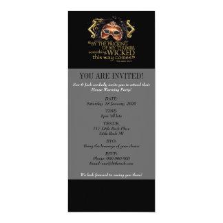 "Macbeth ""Something Wicked"" Quote (Gold Version) 10 Cm X 24 Cm Invitation Card"
