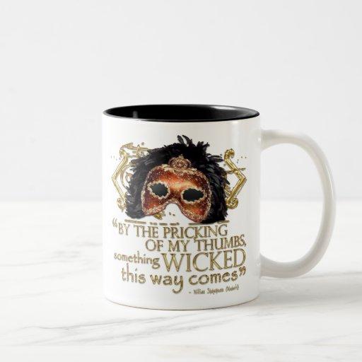 "Macbeth ""Something Wicked"" Quote (Gold Version) Coffee Mug"