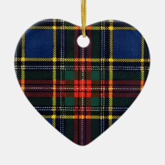 Macbeth Tartan- Monogram Ceramic Heart Decoration