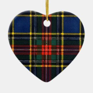 Macbeth Tartan- Monogram Christmas Ornament