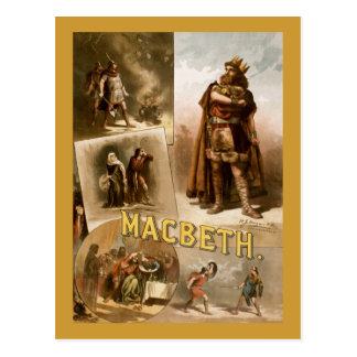 Macbeth, the Play 1884 Postcard