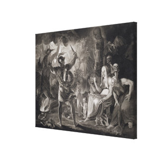 Macbeth, the Three Witches and Hecate in Act IV, S Canvas Print
