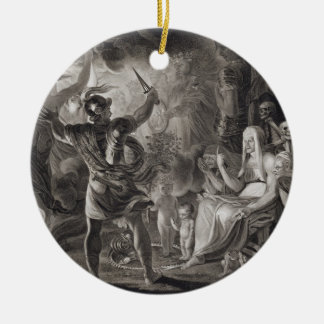 Macbeth, the Three Witches and Hecate in Act IV, S Christmas Ornament