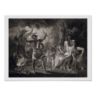 Macbeth, the Three Witches and Hecate in Act IV, S Poster