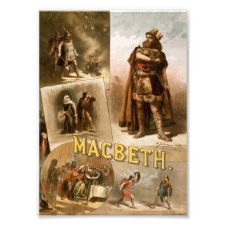 Macbeth Theatre 1884 print Photo