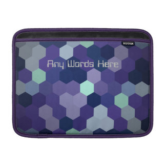 Macbook Air zipped case cover lined Custom Text