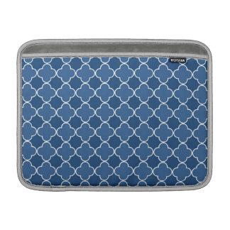 Macbook Blue Quatrefoil Pattern Sleeve For MacBook Air