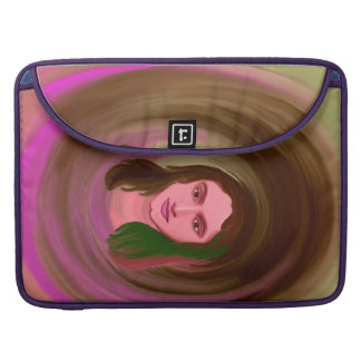 Macbook Pro Cover With Girl Portrait Sleeves For MacBooks