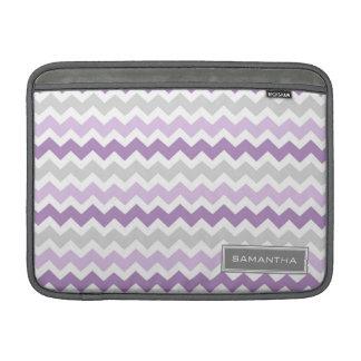 Macbook Purple Ombre Chevron Custom Name MacBook Sleeve