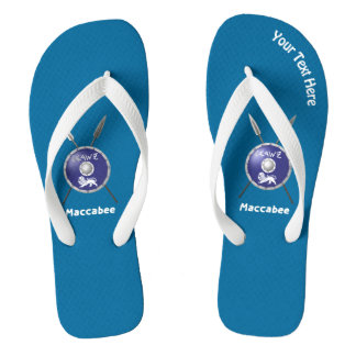 Maccabee Shield And Spears Flip Flops
