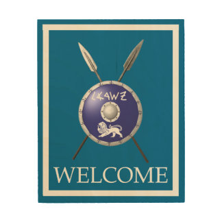 Maccabee Shield And Spears - Welcome Wood Prints