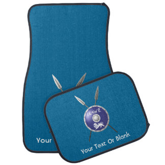 Maccabee Shield And Spears Car Mat