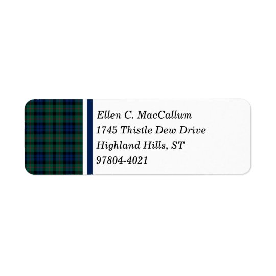 MacCallum Clan Dark Blue and Green Scottish Tartan