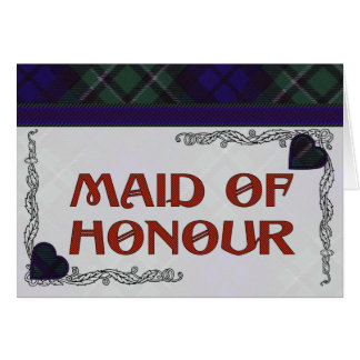 MacCallum Scottish Tartan Heart Design Greeting Card