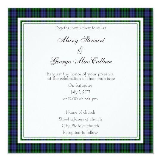 MacCallum Scottish Wedding Square Invitation