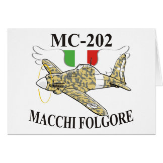 macchi mc-200 folgore greeting card