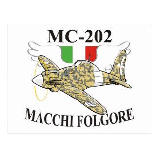 macchi mc-200 folgore postcard