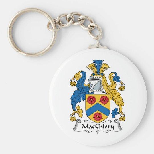 MacChlery Family Crest Basic Round Button Key Ring