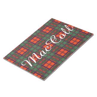 MacColl clan Plaid Scottish kilt tartan Notepad
