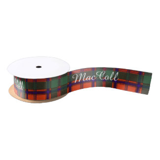 MacColl clan Plaid Scottish kilt tartan Satin Ribbon