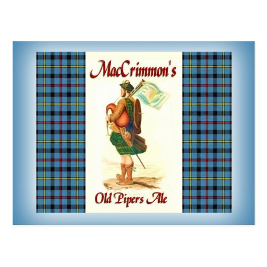 MacCrimmon's Old Piper's Ale Postcard