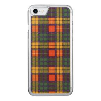 MacCubie clan Plaid Scottish kilt tartan Carved iPhone 8/7 Case