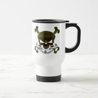MacDiarmid Tartan Skull Stainless Steel Travel Mug