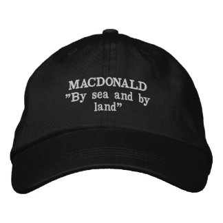 MacDonald Clan Motto Embroidered Hat