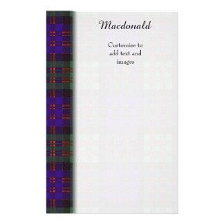 Macdonald clan Plaid Scottish tartan 14 Cm X 21.5 Cm Flyer