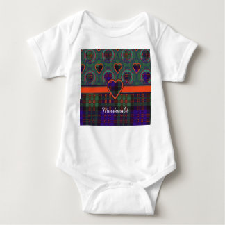 Macdonald clan Plaid Scottish tartan Baby Bodysuit